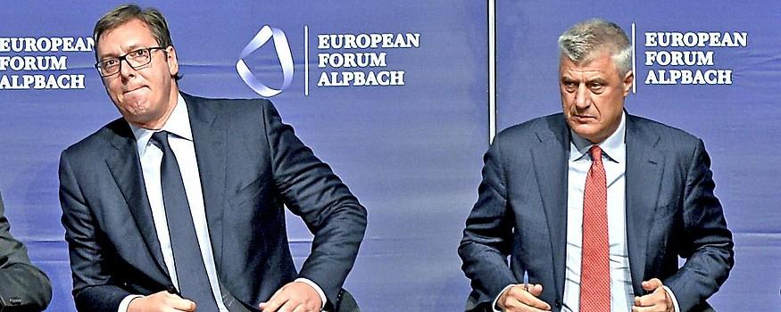 Der serbische Präsident Aleksandar Vucic und der kosovarische Präsident Hashim Thaci