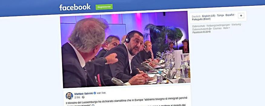 Der luxemburgische Außenminister Jean Asselborn  und der italienische Innenminister Matteo Salvini