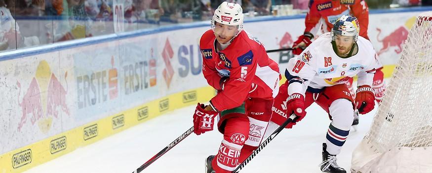 Robin Gartner (KAC) und Florian Baltram (Salzburg)