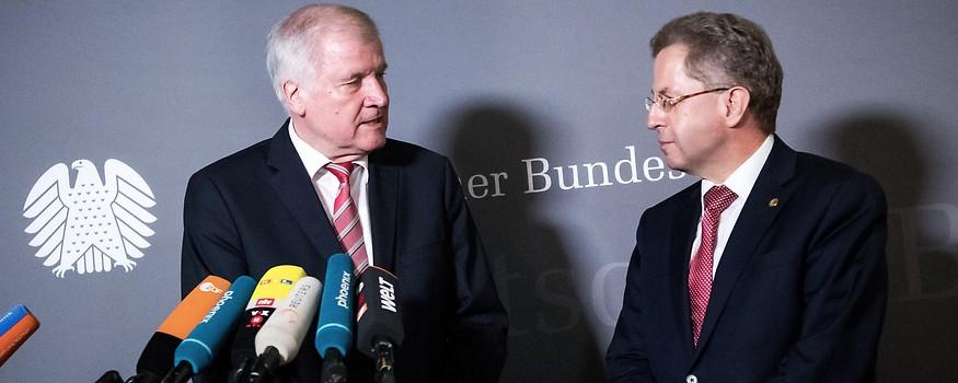 Deutsche Innenminister Horst Seehofer und Hans-Georg Maassen
