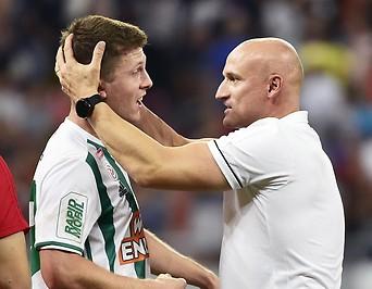 Deni Alar mit Rapid-Trainer Goran Djuricin