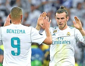 Die Real-Madrid-Spieler Gareth Bale und Karim Benzema