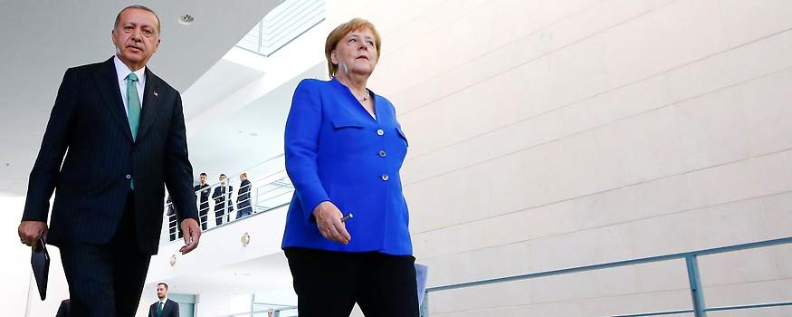 Der türkische Präsident Recep Tayyip Erdogan und die deutsche Kanzlerin Angela Merkel