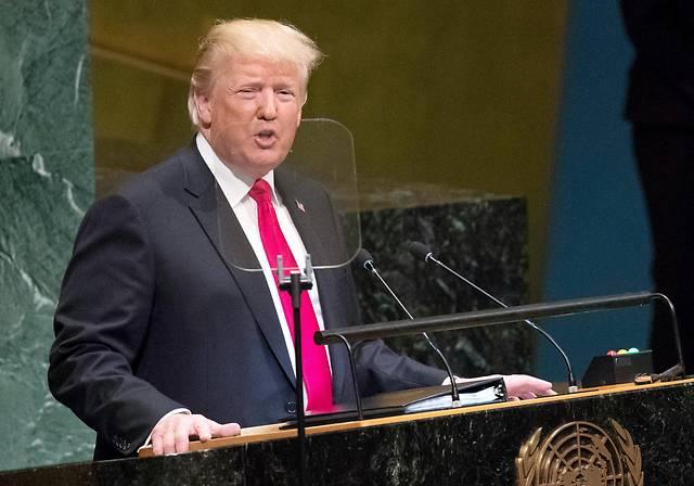US-Präsident Donald Trump bei deiner Reder vor der UNO-Vollversammlung