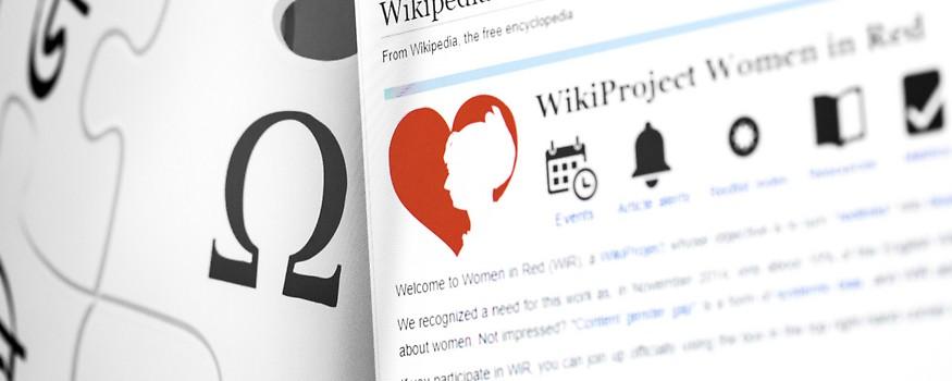 """Screenshot zeigt Wikipedia-Seite von """"WikiProject Women in Red"""""""
