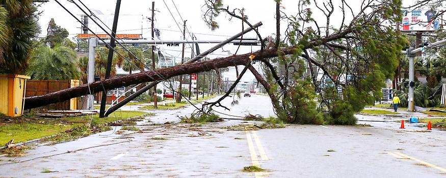 Schäden durch Hurrikan Michael