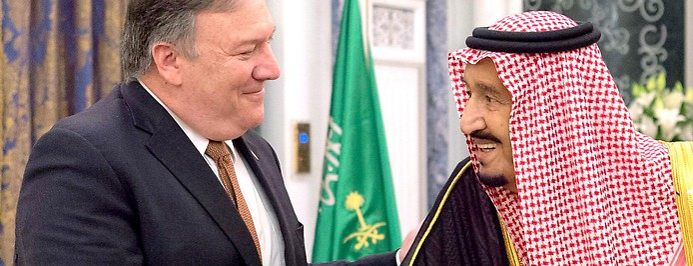 Saudi Arabiens König Salman und US-Außenminister Mike Pompeo