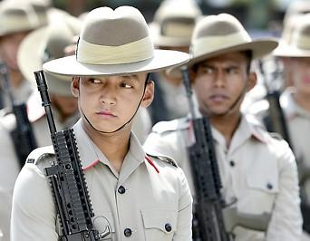 Soldaten einer Gurkha-Brigade
