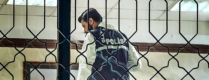 Polizist während den Untersuchungen im saudischen Konsulat in Istanbul