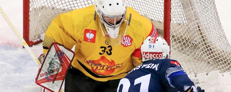 Matthias Tschrepitsch (Capitals) gegen Denis Hollenstein (Zürich)