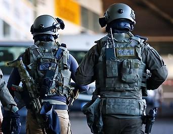 Deutsche Polizisten der Spezialeinheit