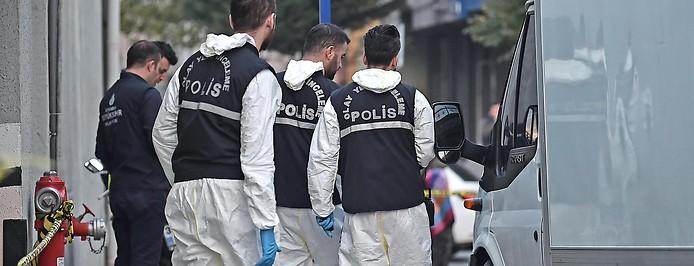 Ermittler der türkischen Polizei in Istanbul