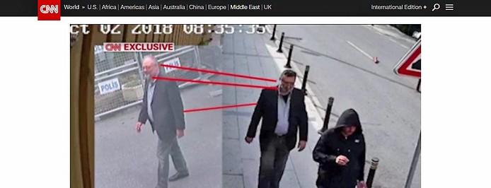 Der saudische Journalist Jamal Khashoggi auf einer Überwachungskamera und sein vermeintliches Double