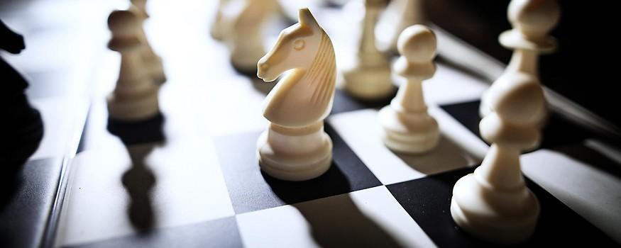 Nahaufnahme von einem Schachbrett