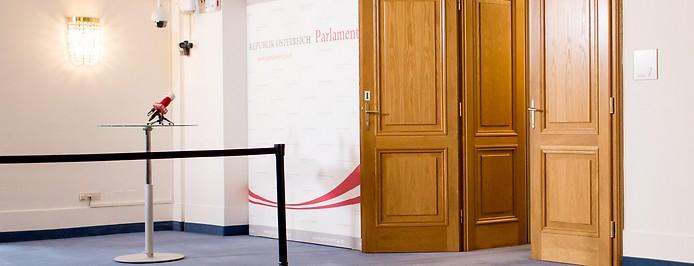 Eingang zum BVT-Untersuchungsausschuss
