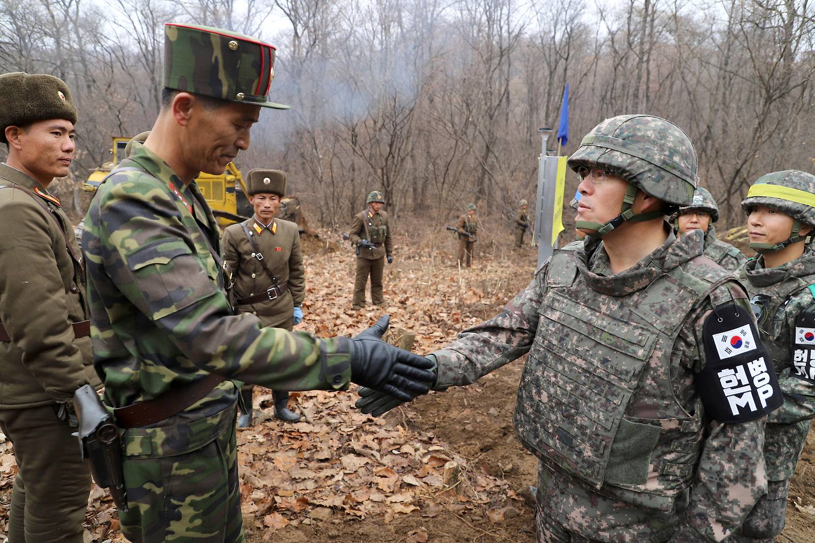 Nord- und Südkorea bauten gemeinsam Straße über Grenze