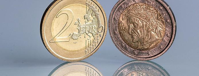 Italienische Zwei-Euro-Münze