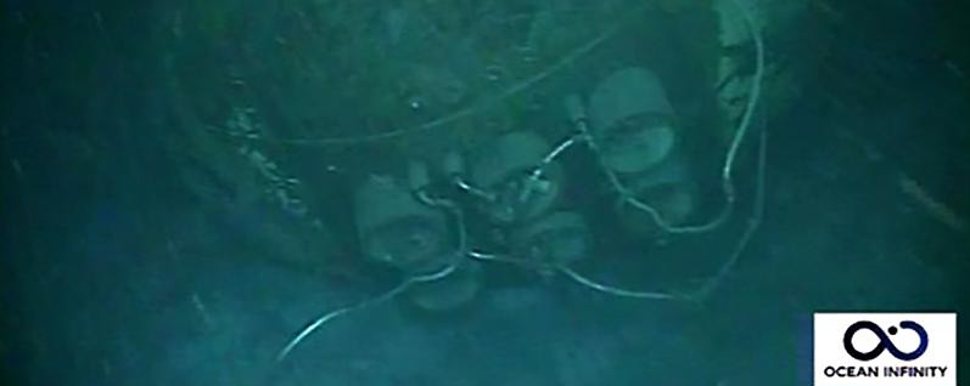 Das Wrack des Uboots ARA San Juan