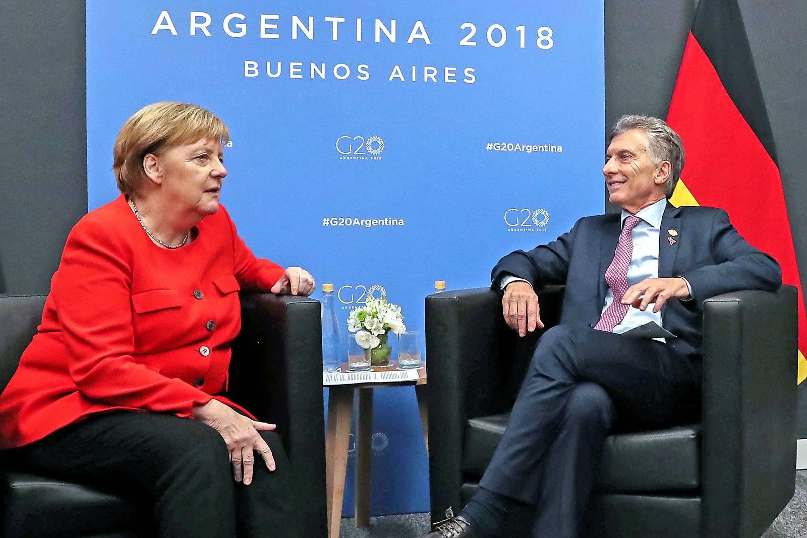 Merkel und Macri beraten über EU-MERCOSUR-Abkommens