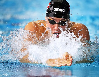 Christopher Rothbauer (AUT) brustschwimmend