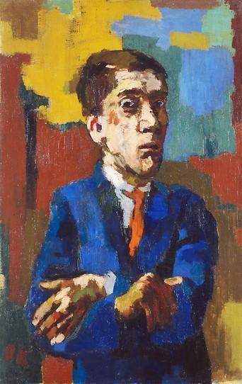 Oskar Kokoschka, Selbstbildnis mit gekreuzten Armen, 1923
