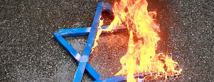 Brennender Davidstern