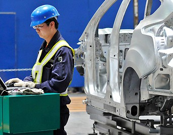 Ford-Fabrikarbeiter in China