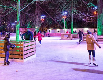 Eisläufer am Wiener Rathausplatz