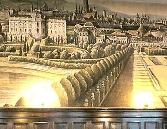 "Bühnenbild mti dem berühmten ""Canaletto-Blick"" von Bernardo Bellotto"