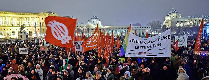 Demonstration in Wien
