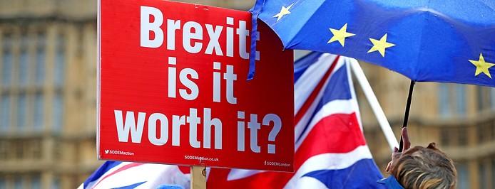 Ein Anti-Brexit-Banner