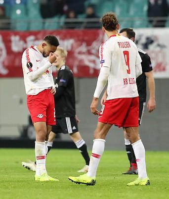 Enttäuschung bei Leipzig-Spielern