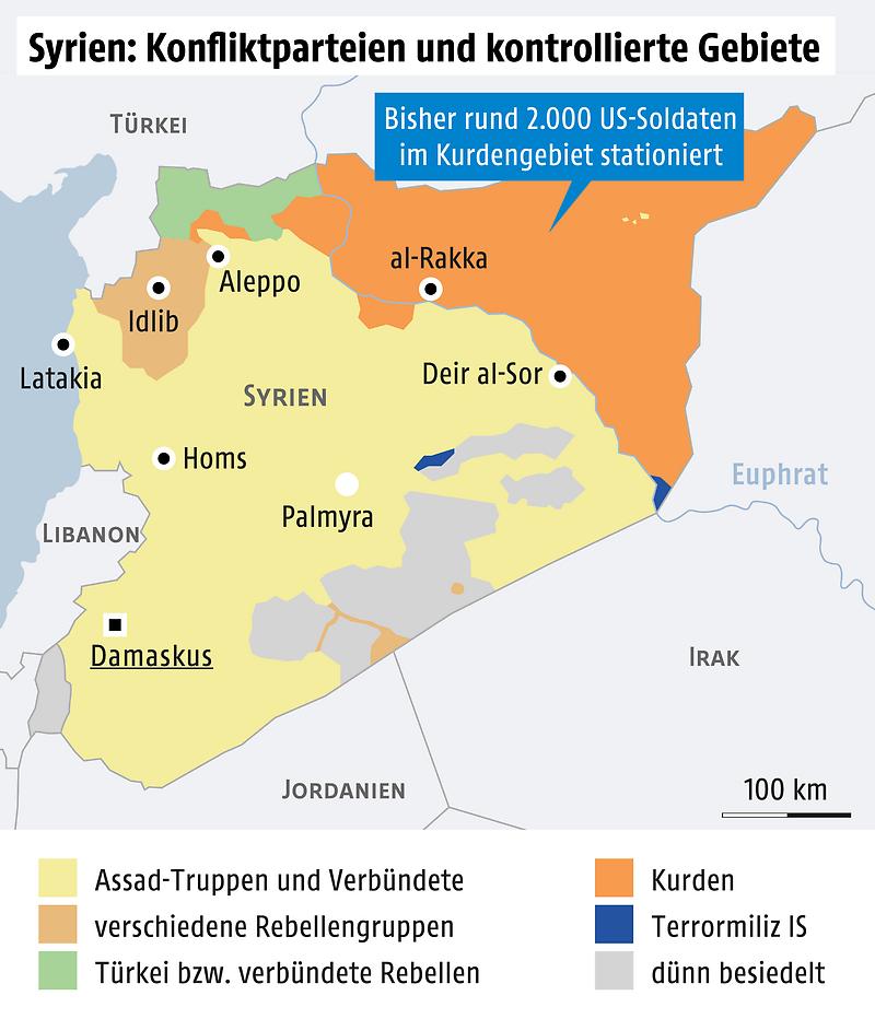 Syrien Karte Krieg.Mit Us Abzug Weg Frei Für Türkei Offensive In Syrien News Orf At