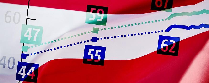 Grafik auf österreichischer Fahne