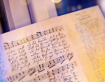 """Faksimile der frühesten autographen Fassung von """"Stille Nacht"""""""