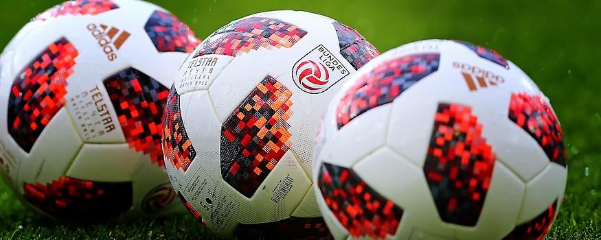 Bundesliga-Bälle mit Logo