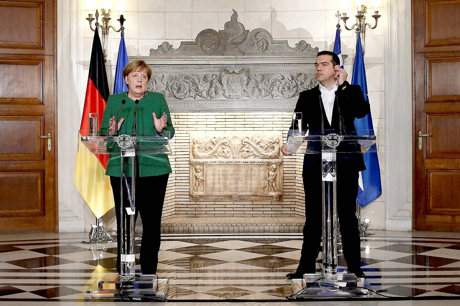 Merkel und Tsipras wollen neue Ära der Zusammenarbeit