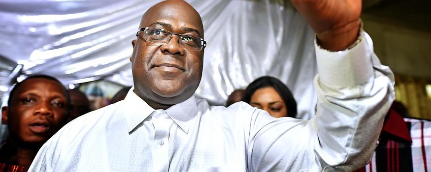 Oppositionskandidat und nunmaliger Präsidentenwahl der Demokratischen Republik (DR) Felix Tshisekedi
