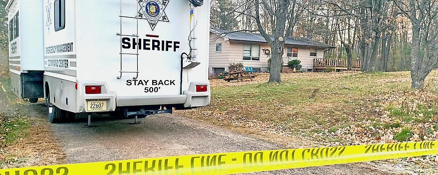 Polizeifahrzeug vor dem Haus der Familie Closs in Barron (Wisconsin)