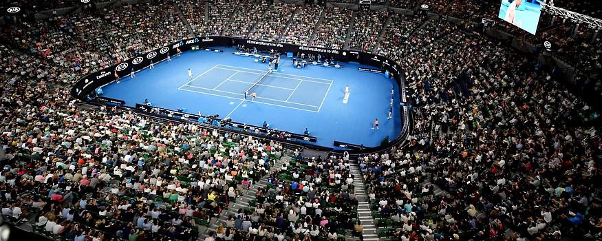 Tennis-Court der Australian Open in Melbourne