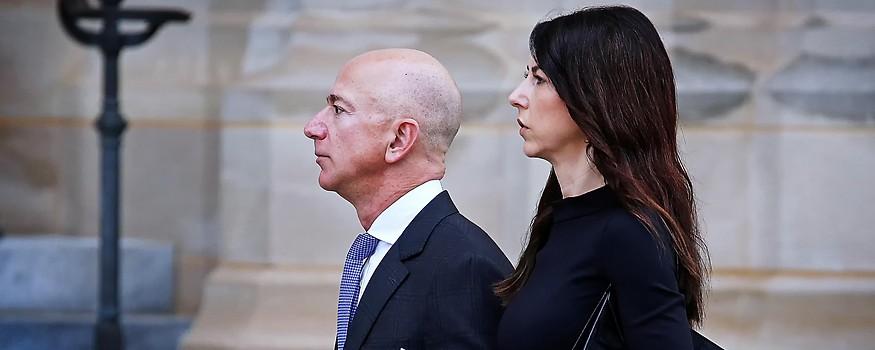 Amazon-Gründer Jeff Bezos mit seiner Frau Mackenzie
