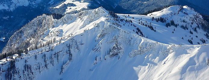 Luftaufnahme einer Winterlandschaft