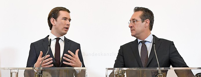 Bundeskanzler Sebastian Kurz und Vizekanzler Heinz Christian Strache