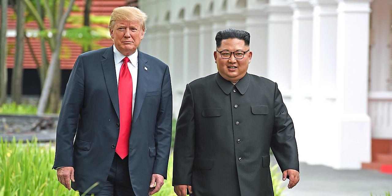 Treffen zwischen Nordkoreas Staatschef Kim Jong Un und US-Präsident Donald Trump