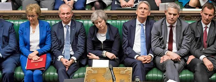 Britische Premierministerin Theresa May im Parlament
