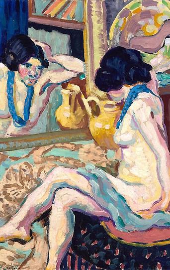 """Helene Funke, """"Akt in den Spiegel blickend"""", 1908-1910 © Belvedere, Wien"""
