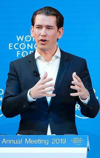 Bundeskanzler Sebastian Kurz (ÖVP) in Davos