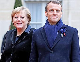 Die deutsche Kanzlerin Angela Merkel und Frankreichs Präsident Emmanuel Macron