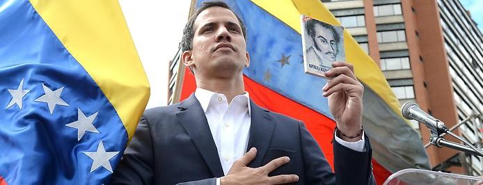 Juan Guaido, Präsident des entmachteten Parlaments von Venezuela