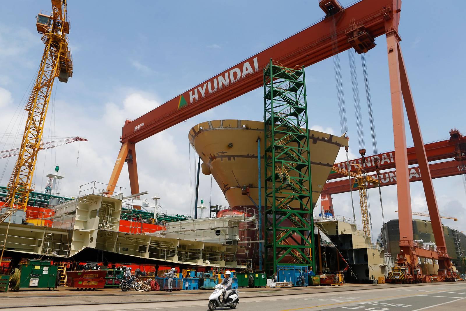 Hyundai und Daewoo planen Werftenfusion